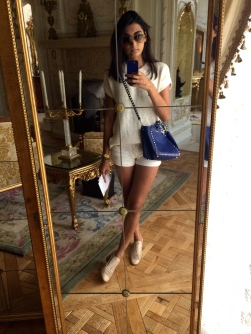 Too many neutrals?? I don't think so! I love pairing all types of beiges and whites and adding a splash of color. The shoes are Reed Krakoff (perfect for Fall!) and the Blue Valentino bag is another one of my picks for Fall/Summer 2014. I just love the rich pop of color it adds to the outfit.